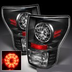 2013 Toyota Tundra Black Ring LED Tail Lights