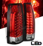 1993 Chevy 2500 Pickup Red and Clear LED Tail Lights
