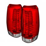 2009 Chevy Avalanche Red and Clear LED Tail Lights