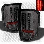 Chevy Silverado 3500HD 2007-2013 Smoked LED Tail Lights