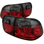 Honda Civic Sedan 1996-1998 Red and Smoked LED Tail Lights