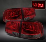 VW Touareg 2003-2007 Red and Smoked LED Tail Lights