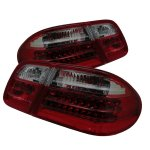 1997 Mercedes Benz E Class Red and Smoked LED Tail Lights