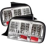 Ford Mustang 2005-2009 Clear LED Tail Lights