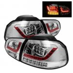 VW Golf 2010-2011 Clear LED Tail Lights