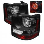 Land Rover Range Rover Sport 2006-2009 Black LED Tail Lights