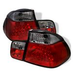 2001 BMW E46 Sedan 3 Series Red and Smoked LED Tail Lights