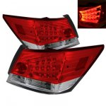 2008 Honda Accord Sedan Red and Clear LED Tail Lights