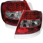 2001 Audi A4 Red and Clear LED Tail Lights