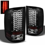 GMC Sierra 3500HD 2007-2012 Black LED Tail Lights