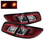 Mazda 6 Sedan 2003-2005 Black LED Tail Lights