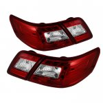 2008 Toyota Camry Red and Clear LED Tail Lights