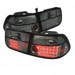 2000 Honda Civic Coupe Smoked LED Tail Lights