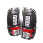 2008 Ford F250 Super Duty Black LED Tail Lights