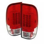 Ford F250 Super Duty 2008-2014 Red and Clear LED Tail Lights
