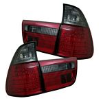 BMW X5 2000 Red and Smoked LED Tail Lights