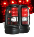 1997 Dodge Ram Black LED Tail Lights