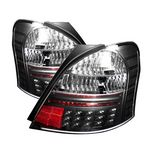 Toyota Yaris Coupe 2006-2008 Black LED Tail Lights