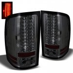 GMC Sierra 3500HD 2007-2012 Smoked LED Tail Lights