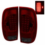 2001 Ford F250 Super Duty Red and Smoked LED Tail Lights