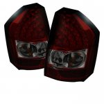 Chrysler 300C 2008-2010 Red and Smoked LED Tail Lights