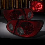 2007 Toyota Corolla Red and Smoked LED Tail Lights