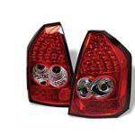 Chrysler 300 2005-2007 Red and Clear LED Tail Lights