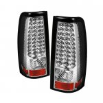 2000 Chevy Silverado Clear LED Tail Lights