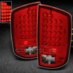 2002 Dodge Ram Red and Clear LED Tail Lights