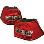 VW Golf 1999-2004 Red and Clear LED Tail Lights