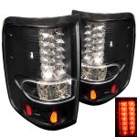 2004 Ford F150 Black LED Tail Lights