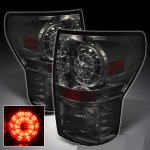2013 Toyota Tundra Smoked Ring LED Tail Lights