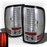 GMC Sierra 3500HD 2007-2012 Clear LED Tail Lights