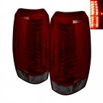 2009 Chevy Avalanche Red and Smoked LED Tail Lights