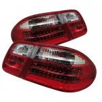 Mercedes Benz E Class 1996-2002 Red and Clear LED Tail Lights