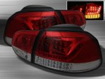 VW GTI 2010-2012 Red and Smoked LED Tail Lights