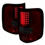 2007 Ford F150 Red and Smoked LED Tail Lights