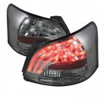 Toyota Yaris Sedan 2007-2009 Smoked LED Tail Lights