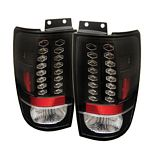 1999 Ford Expedition Black LED Tail Lights