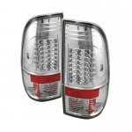 2002 Ford F250 Super Duty Clear LED Tail Lights