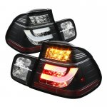 1999 BMW E46 Sedan 3 Series Black LED Tail Lights