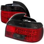 2000 BMW E39 5 Series Red and Smoked LED Tail Lights