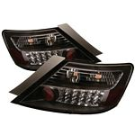 Honda Civic Coupe 2006-2011 Black LED Tail Lights