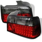 1996 BMW E36 Sedan 3 Series Red and Smoked LED Tail Lights