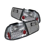 Honda Civic Coupe 1996-2000 Clear LED Tail Lights