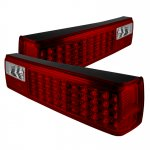 1992 Ford Mustang Red and Clear LED Tail Lights