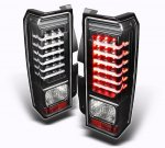 2009 Hummer H3 Black LED Tail Lights