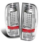 2008 Ford F250 Super Duty Clear LED Tail Lights