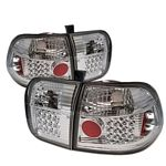 Honda Civic Sedan 1996-1998 Clear LED Tail Lights