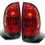 2010 Toyota Tacoma Red and Smoked LED Tail Lights